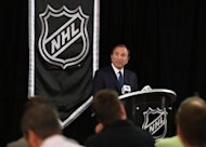 NHL Commissioner Gary Bettman speaks to the media on September 13. A labour standoff between the NHL and its players spiralled as the collective-bargaining agreement expired and Bettman locked out the players