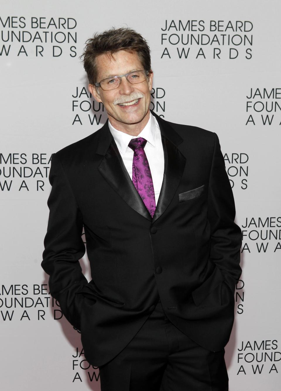 Chef Rick Bayless arrives for the James Beard Foundation Awards, Monday, May 7, 2012, in New York. (AP Photo/Jason DeCrow)
