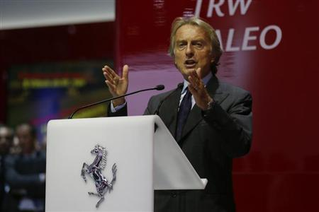 Ferrari Chairman di Montezemolo speaks during a media preview day at the Frankfurt Motor Show