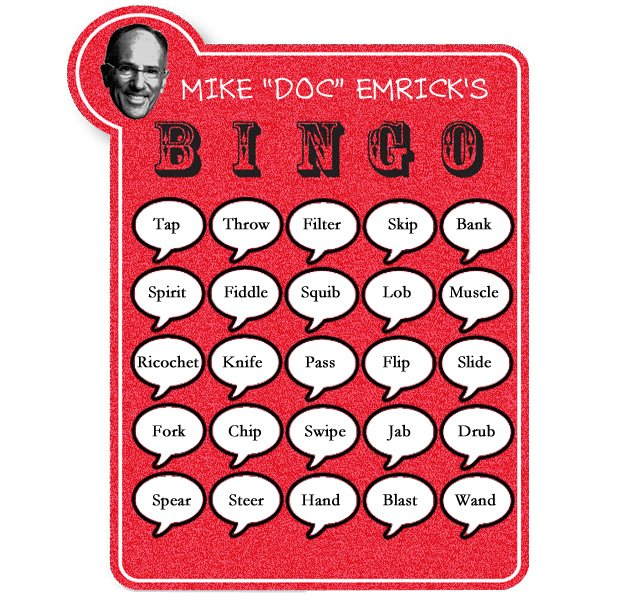 Play Doc Emrick Bingo, Thanks To The NBC Announcer's Amazing List Of Synonyms For 'pass'