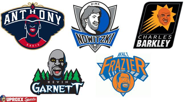 Let's Redesign Every NBA Logo As Each Team's All-Time Best Player