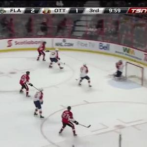 Dan Ellis Save on Erik Karlsson (10:02/3rd)
