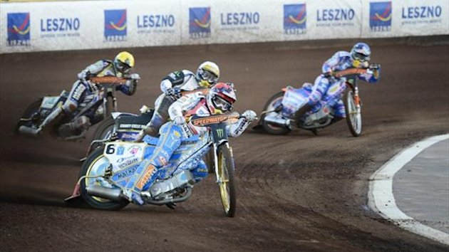 Chris Holder of Australia, Bjarne Pedersen of Denmark, Emil Sayfutdinov of Russia and Jason Crump of Australia (AFP)