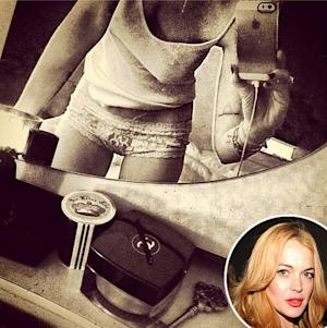 Lindsay Lohan Wears Lingerie Underwear, Goes Braless In Selfie: Picture