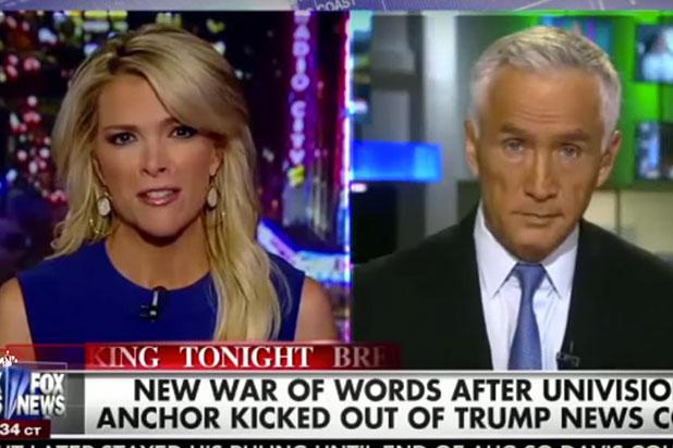 Megyn Kelly, Jorge Ramos Bond Over Being Caught in Donald Trump's 'Crosshairs' (Video)