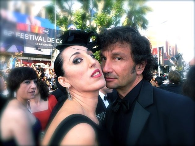 Carlos Gomez and actress Rossy de Palma, Cannes 2009