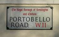 Portobello Road is famous for its Saturday market and daily food vendors