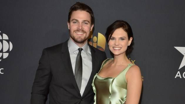 Stephen Amell and Cassandra Jean arrive at the Canadian Screen Awards at the Sony Centre for the Performing Arts on March 3, 2013 -- Getty Premium