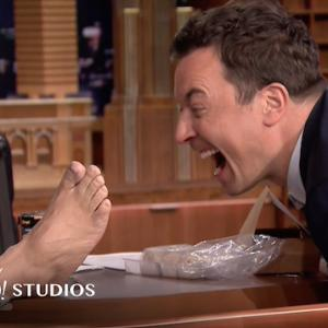 Jimmy Fallon Cozies Up To One Celebrity's Foot