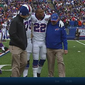 Buffalo Bills running back Fred Jackson leaves game with groin injury