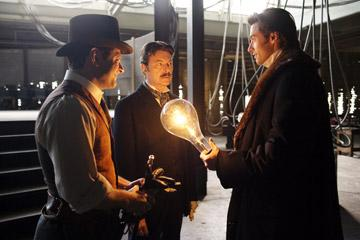 Andy Serkis , David Bowie and Hugh Jackman in Touchstone Pictures' The Prestige
