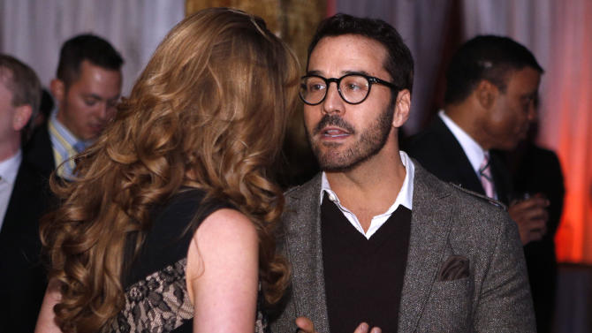 "Actor Jeremy Piven talks to guests at the ""Better With M"" Kick-Off Event on Thursday, Jan. 31, 2013 in New Orleans. (Jonathan Bachman / AP Images for Mars Chocolate North America)"