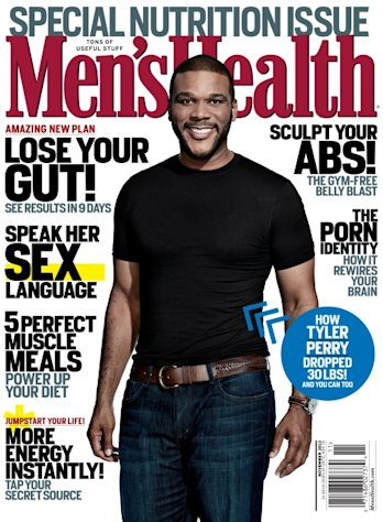 Tyler Perry on the cover of Men&#39;s Health (Nov. 2012) -- Men&#39;s Health