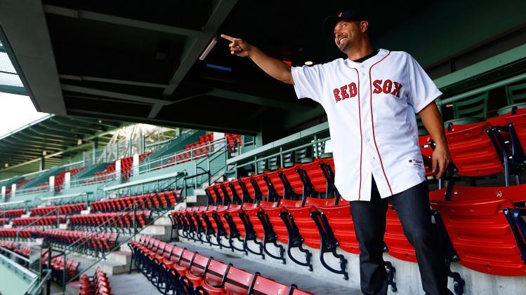 Boston Red Sox Introduce Shane Victorino