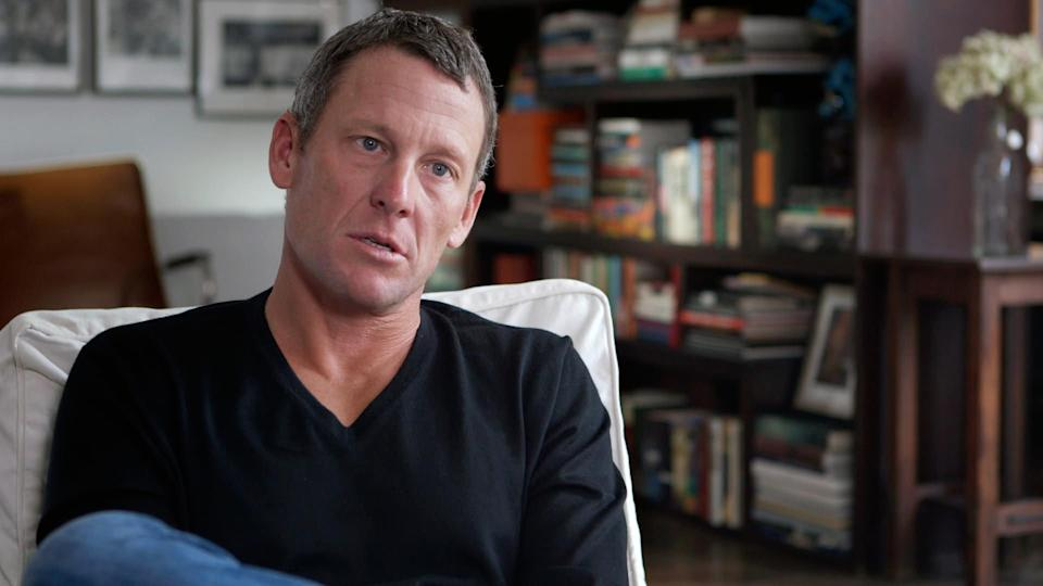 "This photo released by courtesy of Sony Pictures Classics shows Lance Armstrong in the documentary film, ""The Armstrong Lie."" (AP Photo/Courtesy Sony Pictures Classics, Maryse Alberti)"