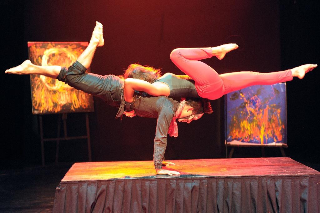 Circus troupe captures Cambodia's contorted history