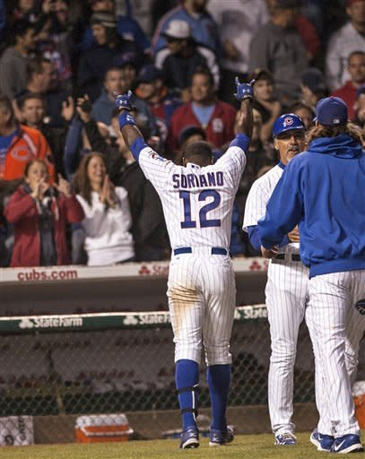Soriano lifts Cubs past Cardinals 3-2