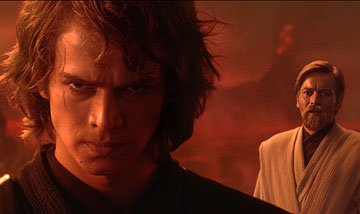 Hayden Christensen and Ewan McGregor in 20th Century Fox's Star Wars: Episode III