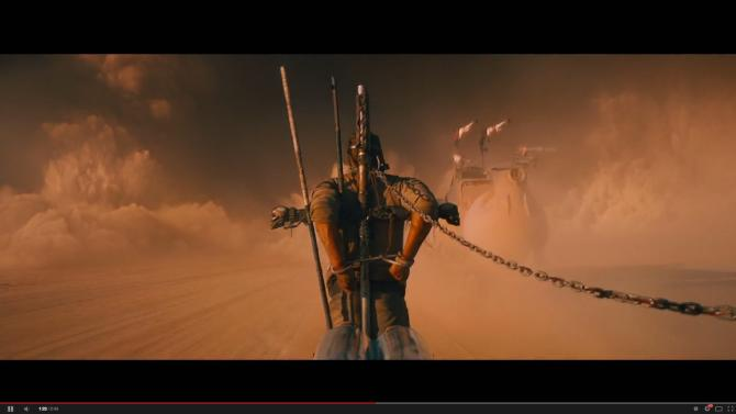 """Tom Hardy's character is captured by a ruthless desert gang in """"Mad Max: Fury Road."""""""
