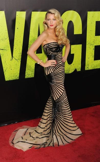 A stunning Blake Lively poses at the 'Savages' premiere in LA on June 25, 2012 -- Getty Images