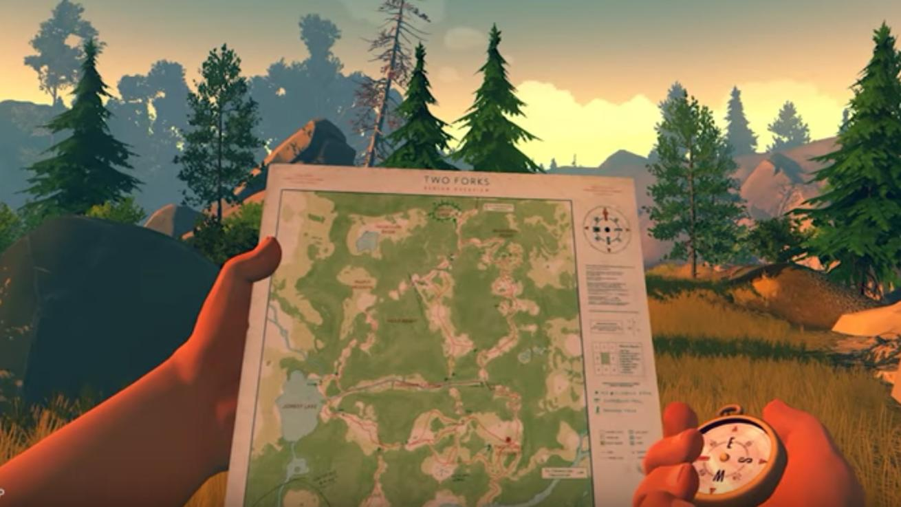 Start your day with a relaxing walk through Firewatch's wilderness