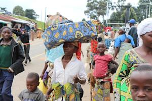 Refugees fleeing fighting in DR Congo arrive at Bunagana …