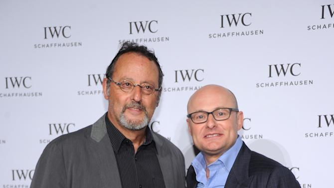 "IMAGE DISTRIBUTED FOR IWC - Actor Jean Reno and IWC CEO Georges Kerns attend IWC and Tribeca Film Festival Celebrate ""For the Love of Cinema"" in New York city on Thursday, April 18, 2013.  (Jamie McCarthy for IWC/Photopress via AP Images)"