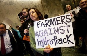 File photo of anti-fracking rally at the state legislature …