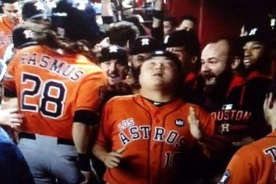 Bless Astros catcher Hank Conger for doing the 'Chappelle's Show' Robot every time Houston homers