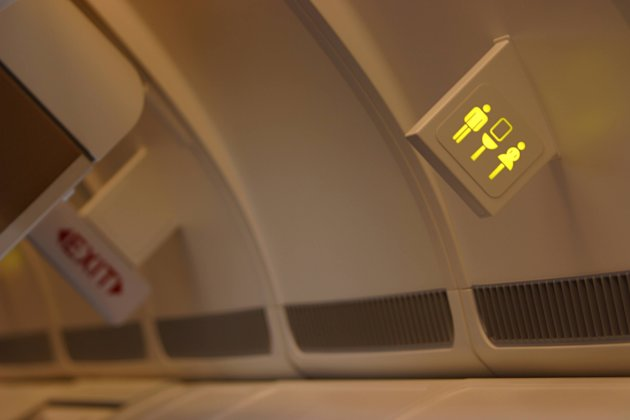 Airplane lavatory sign (Thinkstock)