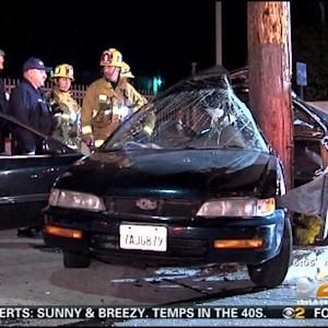 Man Killed After Car Crashes Into El Sereno Pole