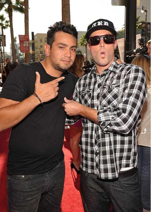"Frankie Delgado (L) and Brody Jenner attend MTV's ""The Hills Live: A Hollywood Ending"" Finale event held at The Roosevelt Hotel on July 13, 2010 in Hollywood, California."