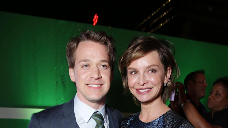 T.R Knight and Calista Flockhart at The Los Angeles Premiere of Warner Bros. Pictures' and Legendary Pictures' 42, on Tuesday, April, 9th, 2013 in Los Angeles. (Photo by Eric Charbonneau/Invision for Warner Bros./AP Images)