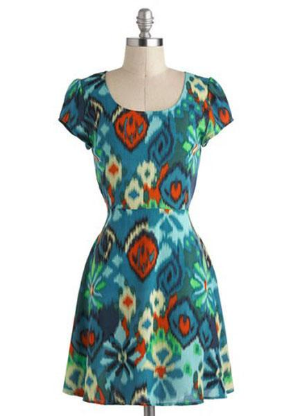 """Ikat Got Your Fun"" dress, $39.99 at modcloth.com"