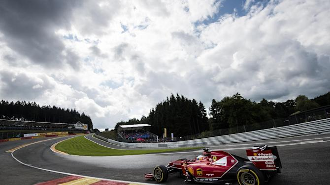 Spain's Fernando Alonso of Scuderia Ferrari competes during the qualifying session at the Spa-Francorchamps circuit on August 23, 2014 ahead of the Belgium Formula One Grand Prix