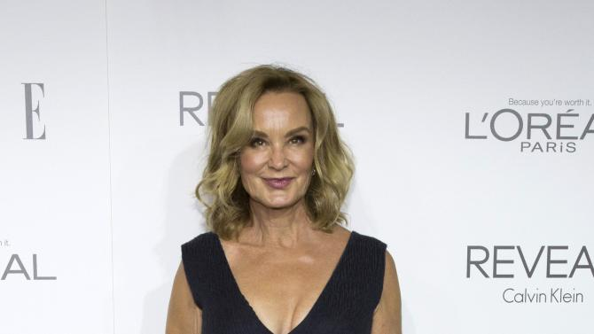 Jessica Lange poses at the 21st annual ELLE Women in Hollywood Awards in Los Angeles