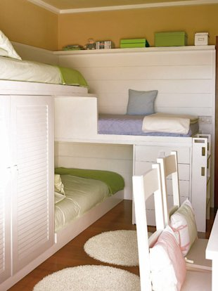 Three-Tier Bunks
