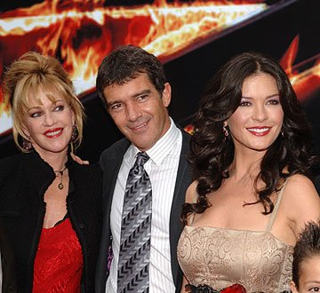 Premiere: Melanie Griffith, Antonio Banderas and Catherine Zeta-Jones at the LA premiere of Columbia Pictures' The Legend of Zorro - 10/16/2005