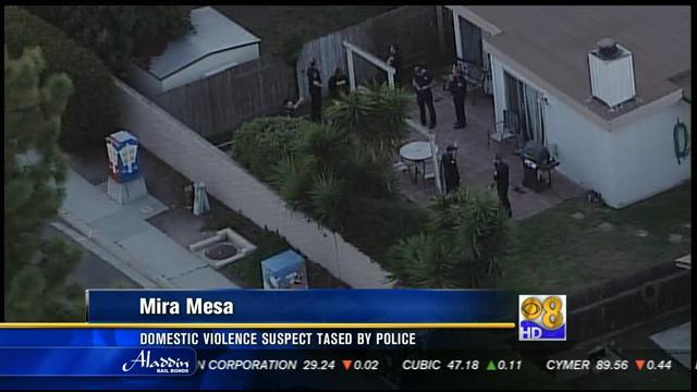 Domestic violence suspect tased by police in Mira Mesa