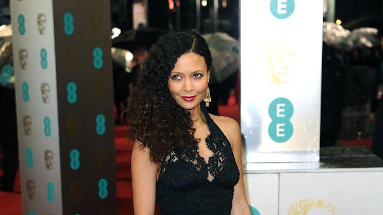 British actress Thandie Newton arrives for the BAFTA Film Awards at the Royal Opera House on Sunday, Feb. 10, 2013, in London. (Photo by Jonathan Short/Invision/AP)