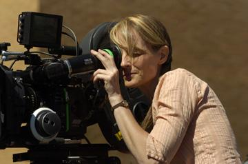 Director Helen Hunt on the set of THINKFilm's Then She Found Me