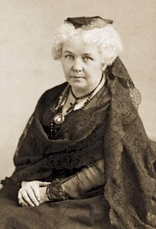 Elizabeth Cady Stanton, who was instrumental in the passage of the 1848 New York State Married Women's Property Act