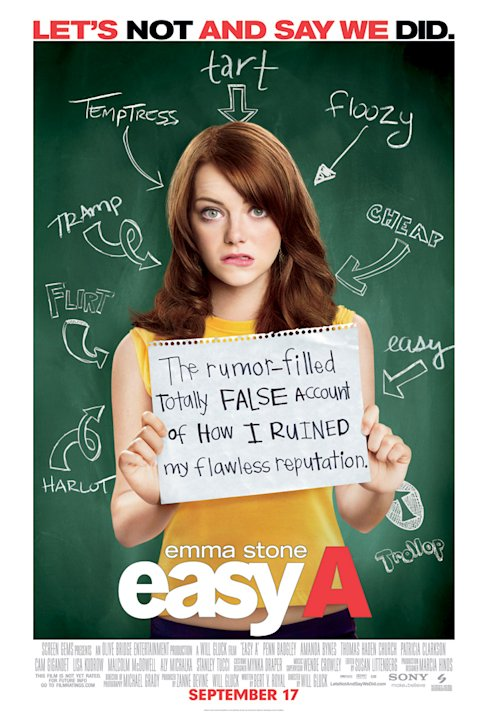 Easy A Production Photos 2010 Screen Gems Poster