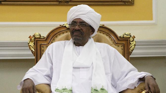 Sudanese President Omar al-Bashir in Khartoum on September 10, 2014
