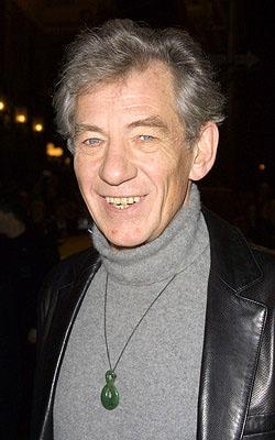 Ian McKellen at the New York premiere of Miramax's Iris