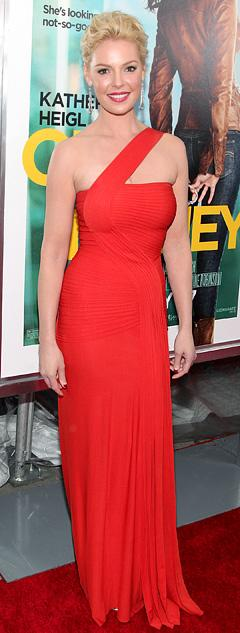 Katherine Heigl Shows Off Slim Bod in Sexy Red Gown