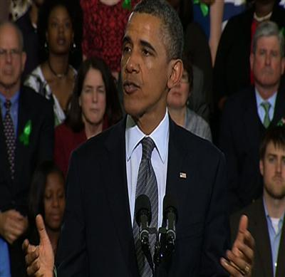 Obama Says He's Determined for Gun Bill