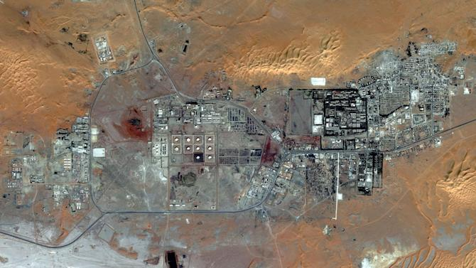 This Oct. 8, 2012 satellite image provided by DigitalGlobe shows the Amenas Gas Field in Algeria, which is jointly operated by BP and Norway's Statoil and Algeria's Sonatrach. Algerian special forces launched a rescue operation Thursday at the plant in the Sahara Desert and freed foreign hostages held by al-Qaida-linked militants, but estimates for the number of dead varied wildly from four to dozens. (AP Photo/DigitalGlobe)