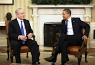 U.S. President Barack Obama welcomes Israeli Prime Minister Benjamin Netanyahu inside the Oval Office of the White House in Washington, March 5, 2012. REUTERS/Jason Reed