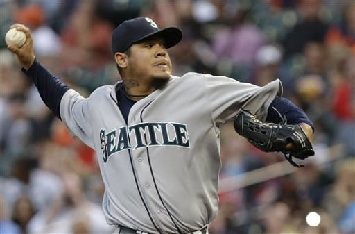 King Felix hits 100 wins with victory over Astros